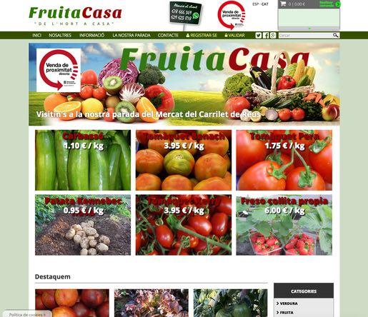 fruitacasa.com - tienda online en reus realizada por mussara.com