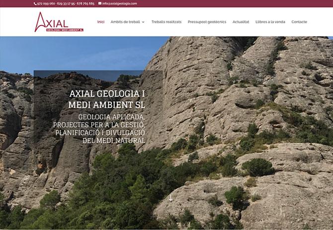 Diseño Web Axial Geologia Girona