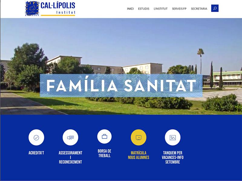 diseño de paginas web tarragona institut cal·lipolis